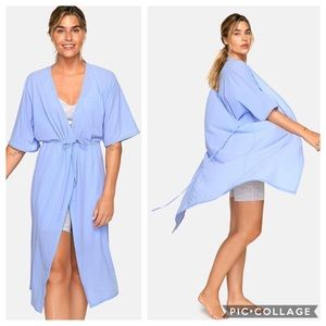 Outdoor Voices TissueWeave Wrap Dress in Pale Iris